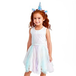 ПЛАТЬЕ НА ДЕВОЧКУ Baby And Toddler Girls Sleeveless Sequin Knit To Woven Tutu Dress