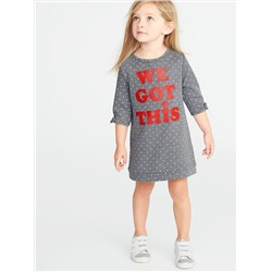 ПЛАТЬЕ French-Terry Graphic Shift Dress for Toddler Girls