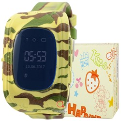 GPS Smart Kids Watch FW01 хаки