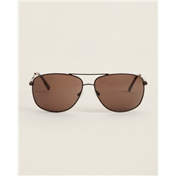 ОЧКИ CALVIN KLEIN  CK19137S Brown Brow Bar Aviator Sunglasses