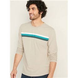 ЛОНГСЛИВ МУЖСКОЙ Soft-Washed Chest-Stripe Long-Sleeve Tee for Men