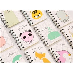 Блокнот A68 Pocket Ben Cute Animal Coil Notebook Student 10,2х7,8см. 80 листов