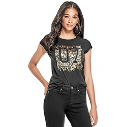 ФУТБОЛКА ЖЕНСКАЯ G by GUESS Women's Ezra Sequin Graphic Tee