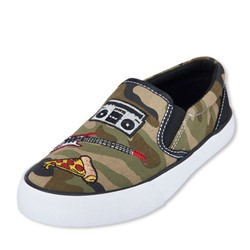 СЛИПЫ НА МАЛЬЧИКА Boys Patch Camo Print Slip-On Rockstar Sneaker