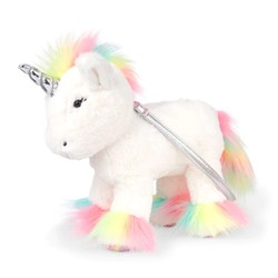 СУМКА ДЕТСКАЯ Girls Faux Fur Rainbow Unicorn Bag