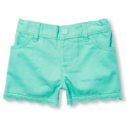 childrensplace ШОРТЫ НА ДЕВОЧКУ Toddler Girls Solid Crochet-Trim Twill Shorts