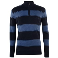 МУЖСКОЙ ДЖЕМПЕР Pierre Cardin Quarter Zip Knit Jumper Mens