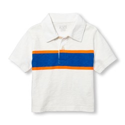 ПОЛО НА МАЛЬЧИКА Toddler Boys Short Sleeve Chest Stripe Jersey Polo