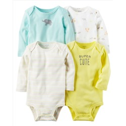 КОМПЛЕКТ БОДИ НА МАЛЬЧИКА 4-Pack Long-Sleeve Original Bodysuits