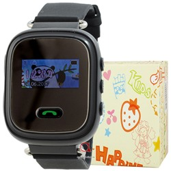 GPS Smart Kids Watch FW03C чер