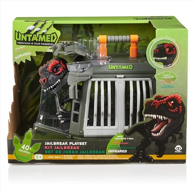 "ИГРУШКА Fingerlings Untamed - Jailbreak Playset with Exclusive T-Rex ""Infrared"" by WowWee (Amazon Exclusive)"