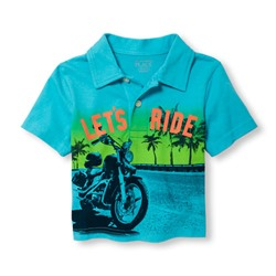 ПОЛО НА МАЛЬЧИКА Toddler Boys Short Sleeve Graphic Jersey Polo
