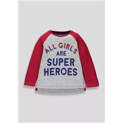 ЛОНГСЛИВ НА ДЕВОЧКУ Girls Slogan Long Sleeve T-Shirt (3mths-5yrs)