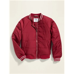 БОМБЕР НА ДЕВОЧКУ Lightweight Quilted Bomber Jacket for Girls