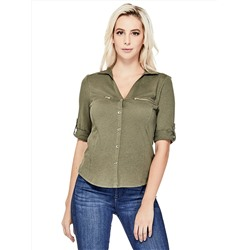 РУБАШКА ЖЕНСКАЯ GUESS Factory Women's Randee Top