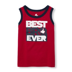 childrensplace МАЙКА НА МАЛЬЧИКА Toddler Boys PLACE Sport Sleeveless Graphic Ringer Tank