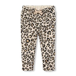Джогеры на девочку Baby And Toddler Girls Active Glitter Leopard Knit Jogger Pants