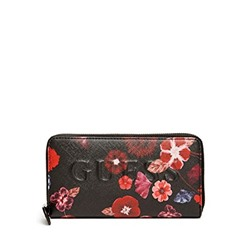 КОШЕЛЕК GUESS Factory Women's Laken Floral Zip-Around Wallet