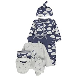КОМПЛЕКТ ИЗ 7 ВЕЩЕЙ Navy Cloud Print Assorted 7 Piece Starter Pack