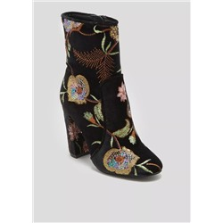 БОТИНКИ ЖЕНСКИЕ Floral Sequin Embellished Boots