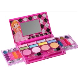 Набор детской косметики Playkidz: My First Princess Makeup Chest, Girl's All-In-One Deluxe Cosmetic and Real Makeup Palette with Mirror (Washabl