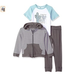 КОМПЛЕКТ НА МАЛЬЧИКА Yoga Sprout Baby and Toddler 3 Piece Jacket, Top and Pant Set
