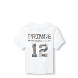 ФУТБОЛКА НА МАЛЬЧИКА Toddler Boys Short Sleeve Camo 'Prince 12' Matching Family Graphic Tee