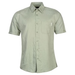 РУБАШКА МУЖСКАЯ Pierre Cardin Short Sleeve Linen Shirt Mens