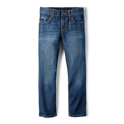 ДЖИНСЫ НА МАЛЬЧИКА Beginning of Product Name Boys Basic Straight Jeans - Dark Jupiter Wash