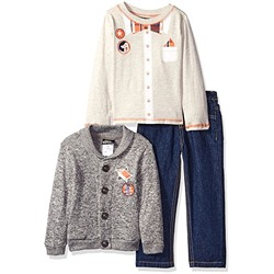 КОМПЛЕКТ НА МАЛЬЧИКА Boys Rock Toddler 3 Pc Sweater Set Pocket Square