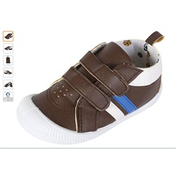 СНИКЕРСЫ НА МАЛЬЧИКА Gerber Baby Boys Early Walker Double Strap Sneakers, Chocolate, 5 M US Toddler'